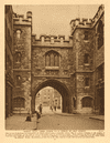 St John's gate, Clerkenwell 1926 old vintage print picture